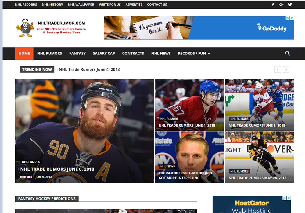 Wordpress Web Design Waterdown for NHL Trade Rumors
